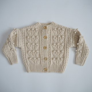 Rylee + Cru Drop1<br>bobble cardigan<br>natural<br>(6-12m,12-18m,18-24m,2-3y,4-5y,6-7y,8-9y)