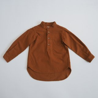 EAST END HIGHLANDERS<br>band collar shirt<br>brown<br>(100,110,120)