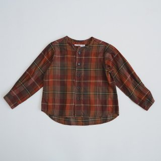 EAST END HIGHLANDERS<br>collarless shirt<br>burgundy<br>(100,110,120)