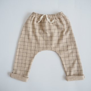 1+in the family<br>baggy pants<br>cream(12m,18m,24m)