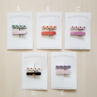Wunderkin Co.<br>hair clips<br>2pcs set (5types)