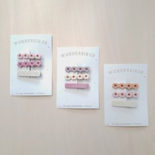 Wunderkin Co.<br>hair clips<br>3pcs set (3types)