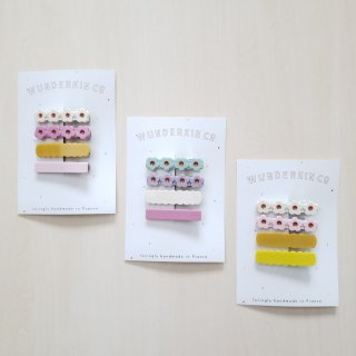 Wunderkin Co.<br>hair clips<br>4pcs set (3types)