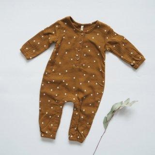 QUINCY MAE Drop1<br>woven jumpsuit<br>walnut(3-6m,6-12m,12-18m)