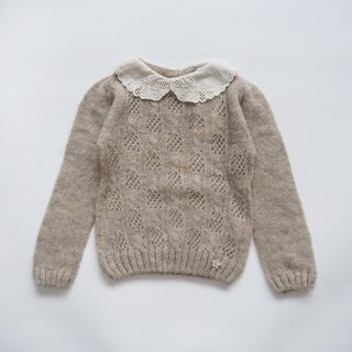 <img class='new_mark_img1' src='https://img.shop-pro.jp/img/new/icons14.gif' style='border:none;display:inline;margin:0px;padding:0px;width:auto;' />tocoto vintage<br>knitted sweater with embroidery<br>beige<br>(2y,3y,4y,6y)