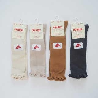 Condor<br>knee socks with lace edging cuff<br>4colors(0,2,4,6)