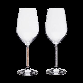 ギフトペアワイングラスセット マディソンゴールド/オーシャンシルバー