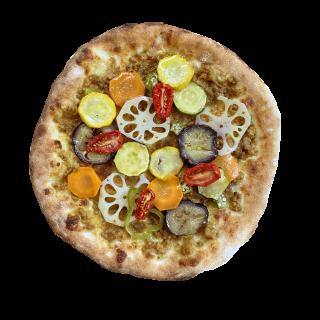 冷凍ピザ ピザ山 「カラフルカレー山」 (8種の野菜とオリジナルスパイスカレーのピザ)