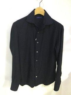 コットンカシミア ラウンドカラーシャツ/63018401301*SS#MC