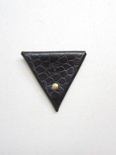 クロコ型押し三角コインケース/5402305041*WA#IB
