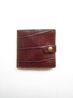 クロコ型押しBOXコイン式財布[bw]/5402305840*WA#IB