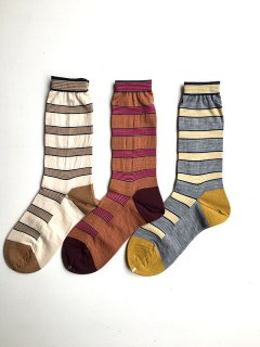 【セール20%off】SELECTION OF THIN STRIPES ソックス/AM-194A*SO#IT*