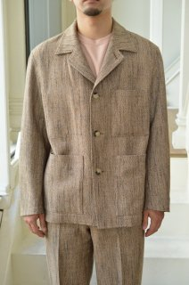 WOOL SILK MIX TWEED BLOUSON/A20AB01MT*JK#GH