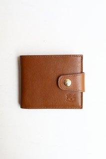 フラップボタン付き折財布/54172309140*WA#IB
