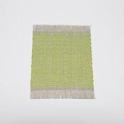 麻綿コースター/大[黄緑色]| 富永和雅・かずよ