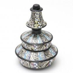 幾何紋金銀彩 香水瓶|多田幸史