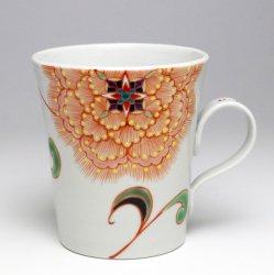 紋花 マグカップ(ピンク)|山下紫布