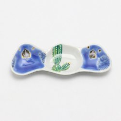 豆皿(3連) 青B |山浦早織