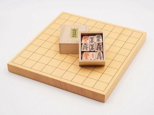 卓上将棋10号・駒 楓押彫 裏赤セット