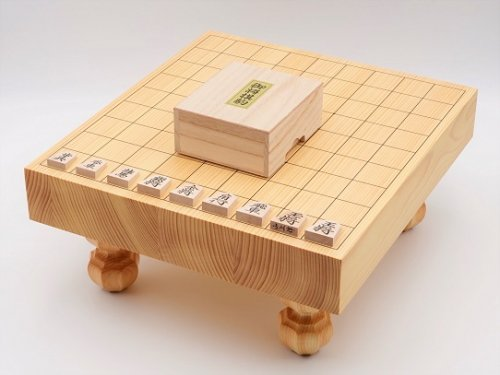 卓上-足付兼用将棋・駒 楓 上彫セット  (送料無料)