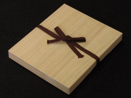 駒箱 桐材 平型