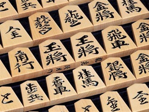 将棋駒 隆月作 島つげ 深彫 龍光書    (送料無料)