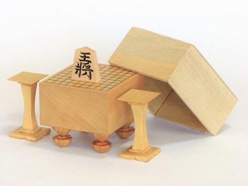 ひな将棋盤・駒台・木製覆付(極小)