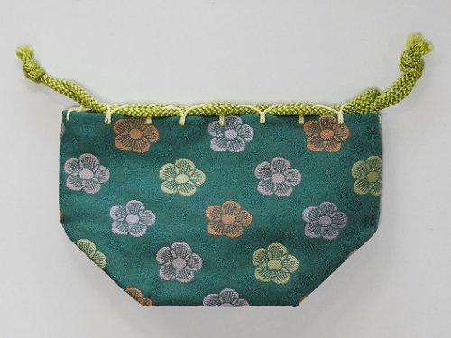 駒袋 金らん 梅並べ (緑青色)