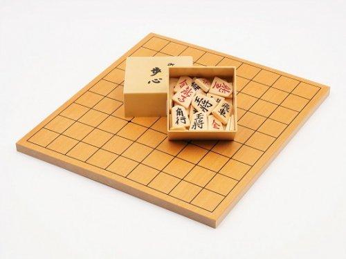 折り将棋盤・プラスチック裏赤駒セット