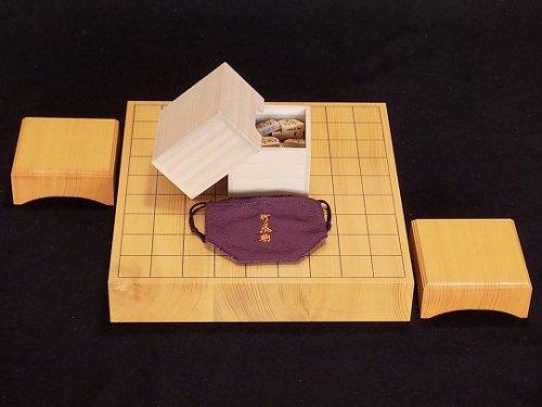 高級将棋セット   本榧卓上将棋盤・駒 竹風作 島ツゲ 菱湖書彫セット