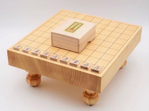 卓上-足付兼用将棋・駒 楓 菱湖書彫セット  (送料無料)