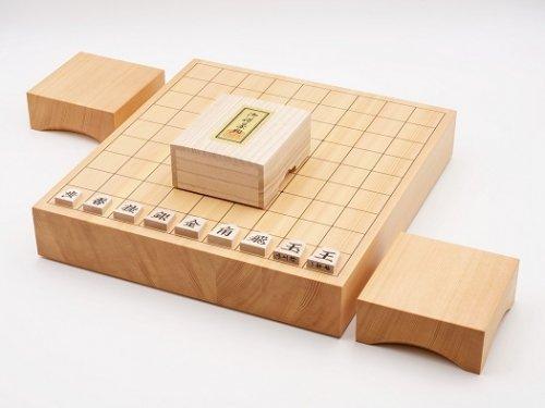卓上将棋20号・駒 一字書彫・駒台セット  (送料無料)
