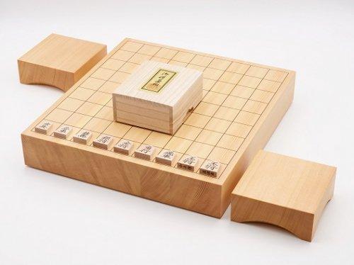 卓上将棋20号・駒 楓 菱湖書彫・駒台セット  (送料無料)