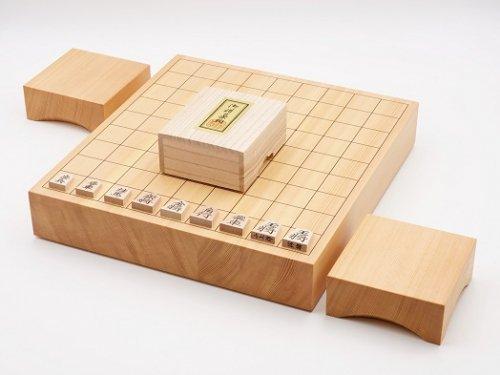 卓上将棋20号・駒 楓 錦旗彫・駒台セット  (送料無料)