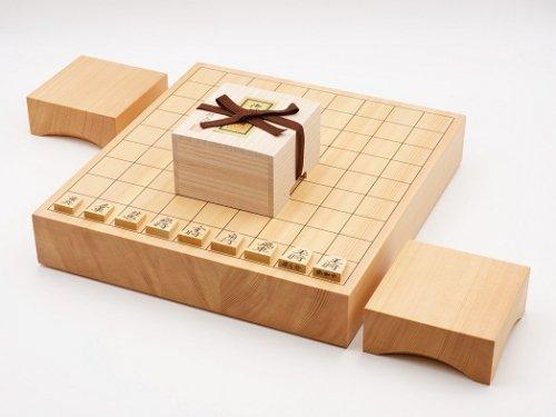 卓上将棋20号・駒 本つげ 鵞堂彫・駒台セット  (送料無料)
