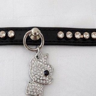 COL17 39 BLACK PATENT COLLAR