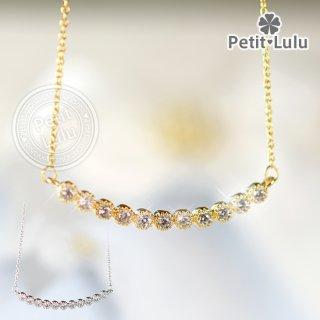 ネックレス レディース AAA級ダイヤモンドCZ カーブライン 18金RGP 18k 925銀