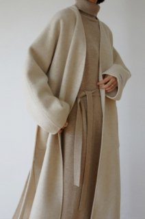 wool 90%<br>hand made no collar coat<br>oatmeal