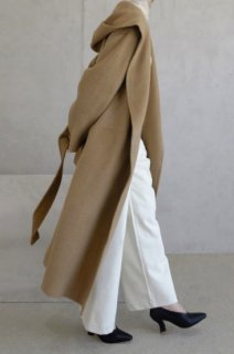*限定生地*<br>アルパカ40%<br>herringbone alpaca<br>hoodie handmade coat<br>3colors