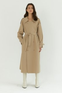 kate double<br>long trench coat<br>beige