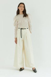 tuck wide pants<br>ivory