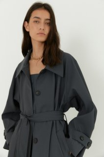 classic single trench coat<br>grey