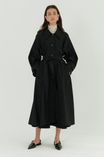 classic single trench coat<br>black