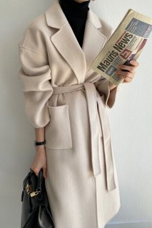wool100%<br>classic handmade coat<br>3colors