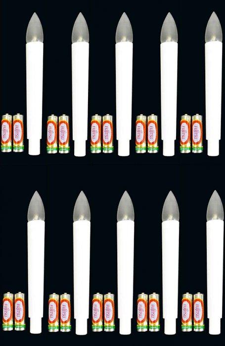 ◆LED電池灯・LC301 10本 電池2ケつき 送料無料