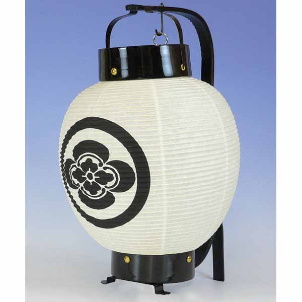 ◆正面家紋の弓張提灯(お迎え提灯)ボール箱入り