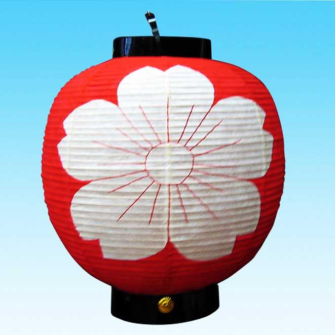 ◆和紙製オーダーメード・丸型提灯 13号 さくら型