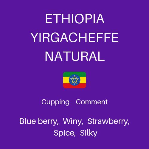 【100g】エチオピア イルガチェフェ ナチュラル