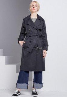 517a3f7a4eefe ... クール カジュアル レディスファッション アウター ロングトレンチコート トレンチコード 定番