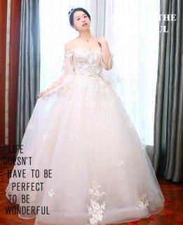 9476de492d8a2 ... ウエディング 結婚式 パーティードレス 袖あり 大きいサイズ ロング お呼ばれ 6l 5l 4l 3l 2l
